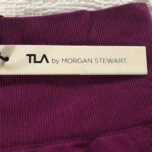 TLA by Morgan Stewart wine colored leggings